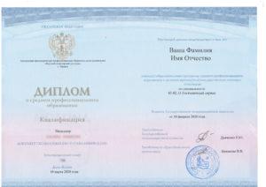 Диплом Гостиничный сервис
